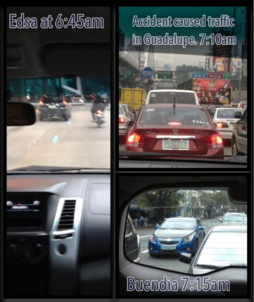 EDSA traffic in the morning.