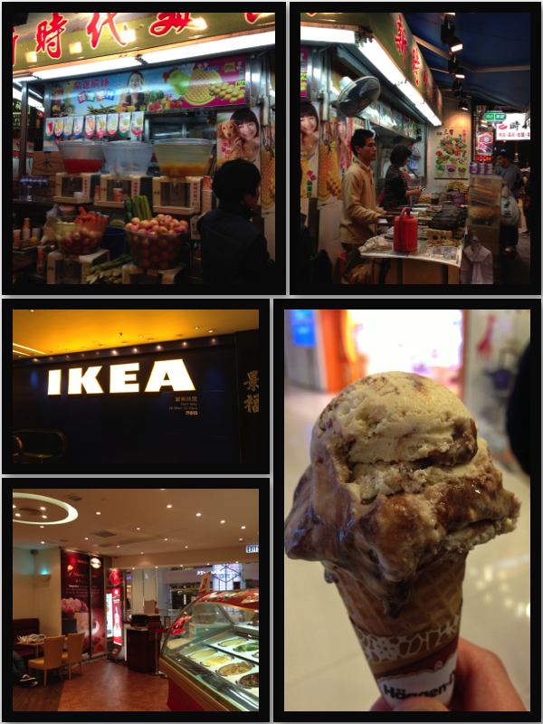 Street food a block away.  IKEA.  Haagen Daz
