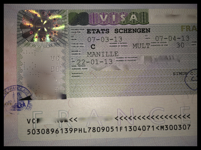This is how the Schengen Visa looks.