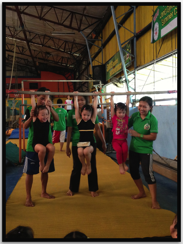 Gymnastics: This brings out the fun in doing different tricks in a not so common setting.  It's like playing too!