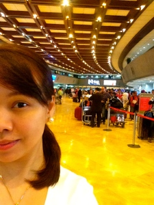 Long line for economy class...