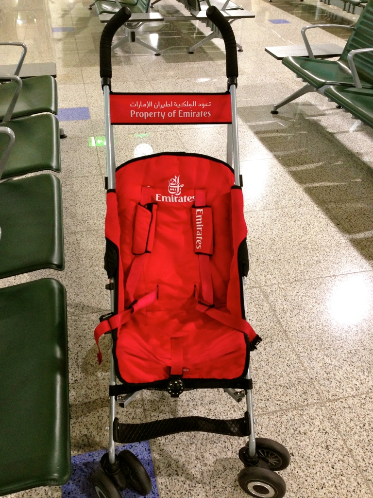 Another nice feature if you have a child in tow, is the free use of strollers inside the airport.