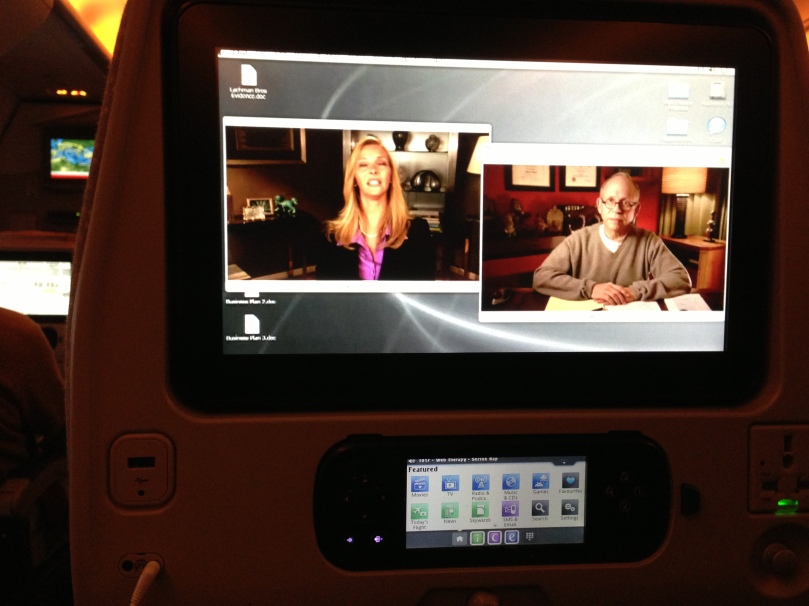Their planes have sooo much movies and videos.  I wasn't even able to use my iPod (I brought my own series to watch) throughout the flight.