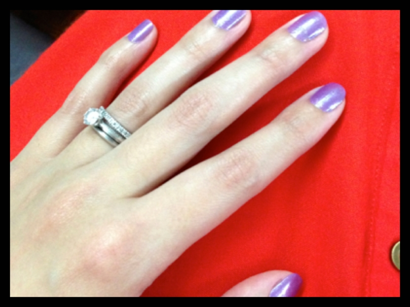 Got nails done at Indigo Salon, Corinthian HIlls, Temple Drive, Quezon City.  They used Sally Hansen nail polish.  I mixed two kinds of purple :-)