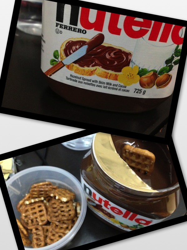 Nutella from canada + Pretzels from U.S