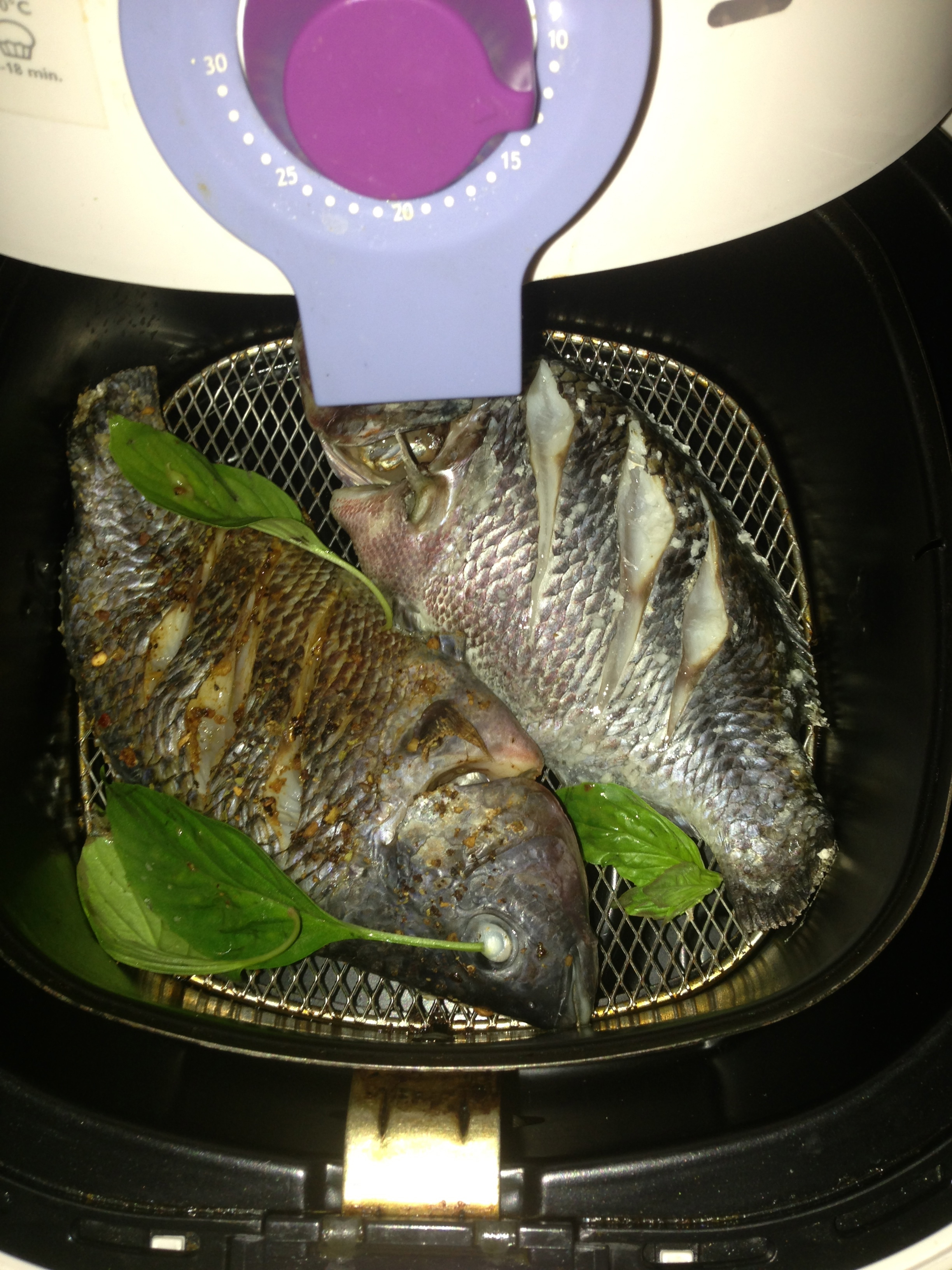 Cooked tilapia in an air fryer little experiences for Air fryer fish