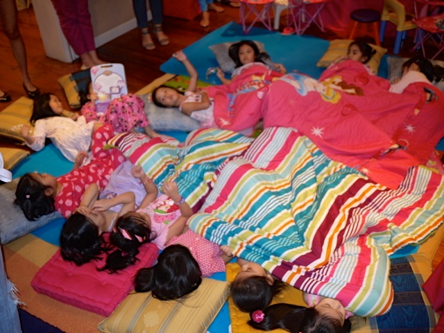 "We had a ""nap"" portion to keep up with the ""slumber party"" theme."