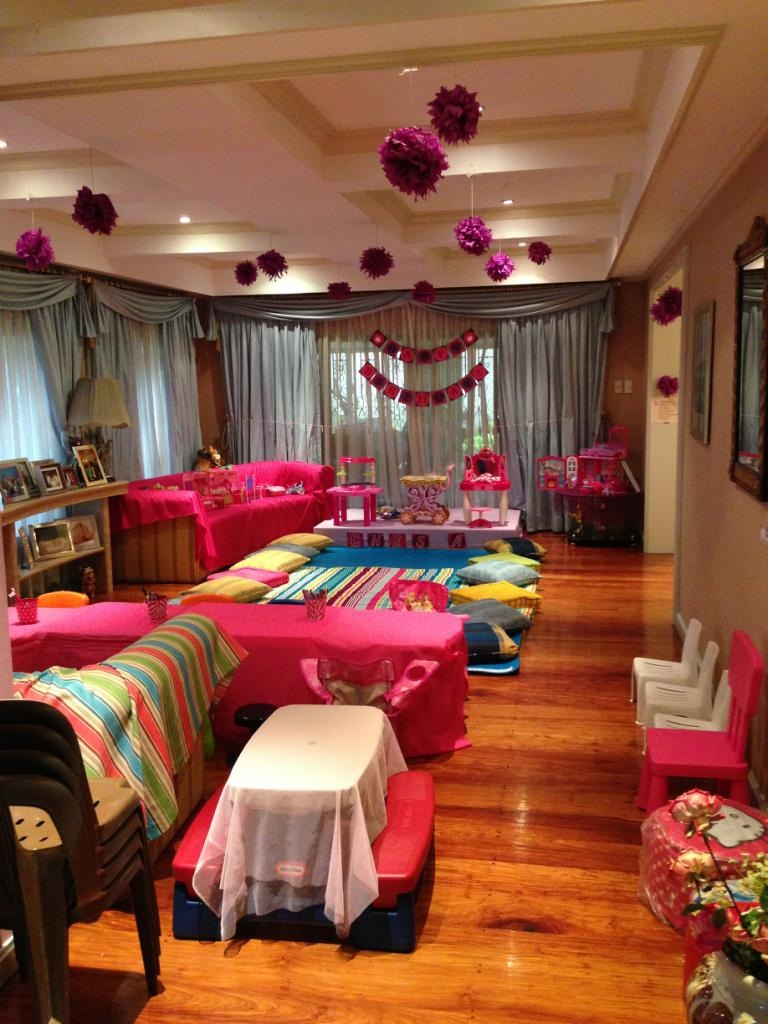 living room into a big sleeping area for all the kids