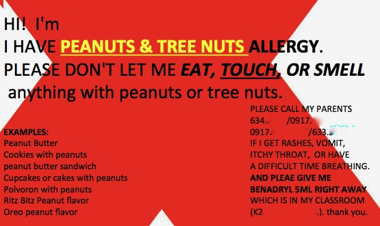 For those smaller kids, it would be good you informed their teachers and principals.  in the Philippines, there isn't a law regarding the ban of peanuts in school.