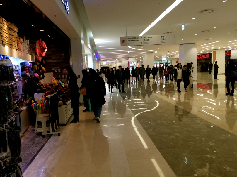 We did do a lot of walking, a bit of shopping and eating in the COEX mall.