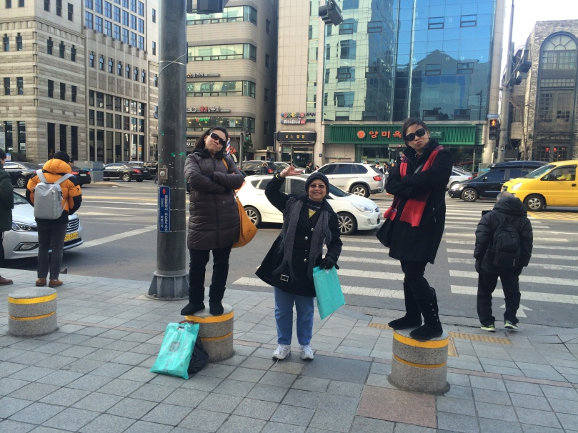 Ok, this is not in the same place anymore.  We were posing in the middle of a busy street.
