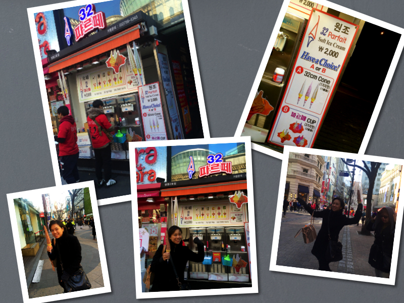 While strolling around, I saw people holding this tall soft serve ice cream..got so curious and tried it myself.