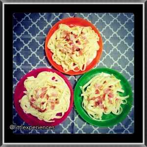 Kids Carbonara made with love