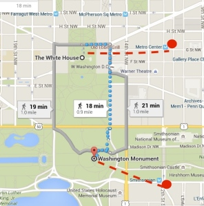 It also takes 10 minutes to get from the WH to the nearest Metro.